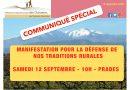 La FDC66 appelle à manifester à Prades samedi 12 septembre